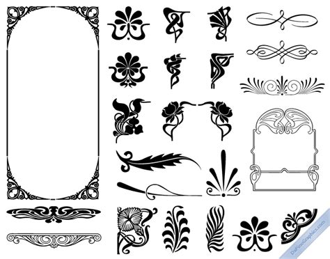 art nouveau design elements web design pinterest