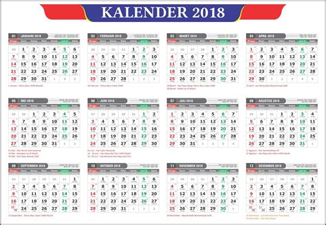 design kalender 2018 cdr kalender 2018 masehi 1439 hijriyah indonesia lengkap
