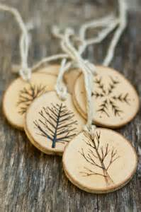 tree branch christmas ornaments wood burned trees rustic natural and eco friendly as seen