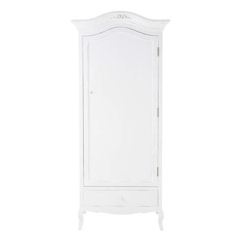 Small White Wooden Wardrobe Wooden Wardrobe In White W 90cm Maisons Du Monde