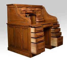 roll top desk oak oak pedestal roll top desk by cutler at 1stdibs