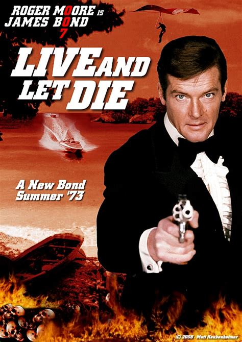film james bond live and let die 1973 live and let die golrush 007 fan art