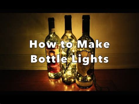 how to lights diy how to make bottle lights