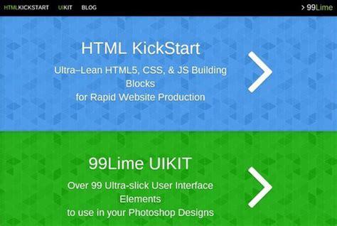 html kickstart themes 20 best html5 tools for 2014 code geekz