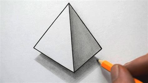 Drawing 3d Objects by How To Draw A Pyramid