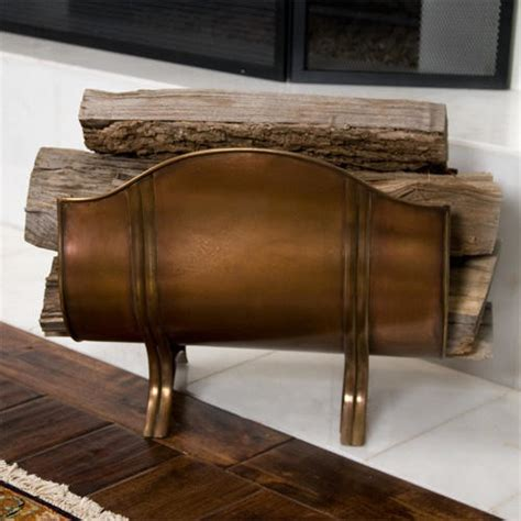 Fireplace Wood Holder by Manheim Decorative Copper Firewood Holder On