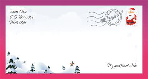 search results for printable north pole envelope