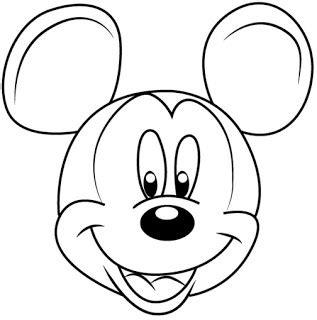 tutorial menggambar mickey mouse cara mudah sketsa atau menggambar wajah mickey mouse dari