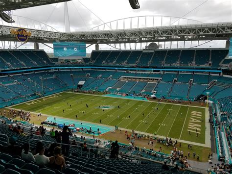 Section 314 A by Rock Stadium Section 314 Miami Dolphins Rateyourseats