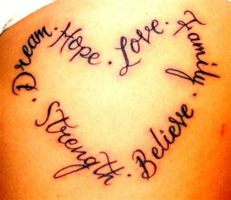 word love tattoo designs of words in the form of tattoos