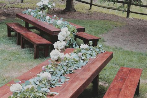 bench rentals for weddings farmhouse table rentals for weddings showers or any