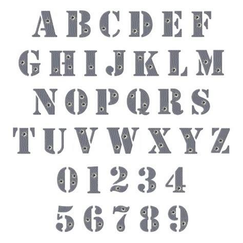 Letter Machine Gun Gun Metal Font Embroidery Font Annthegran