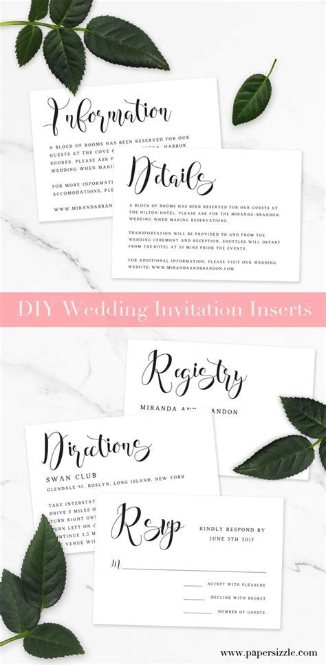 Best 25  Wedding invitation inserts ideas on Pinterest