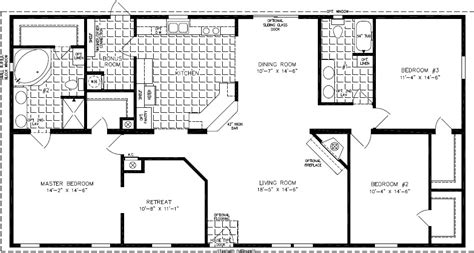 1999 fleetwood mobile home floor plan the tnr 46811w manufactured home floor plan jacobsen homes