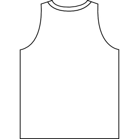 basketball jersey outline vector download at vectorportal