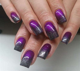 silver  purple nail designs easyday