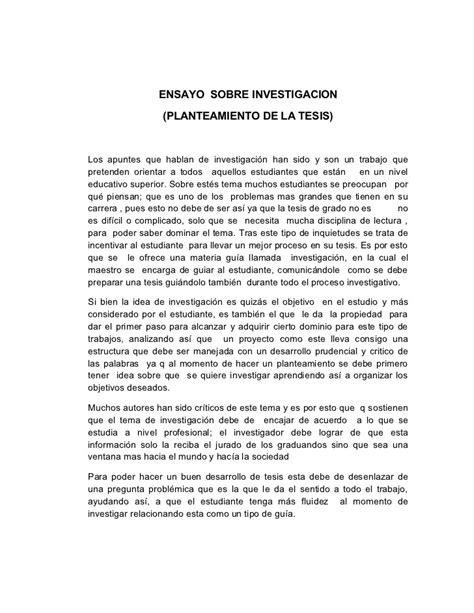 2 ensayos ii letras ensayo sobre investigacion