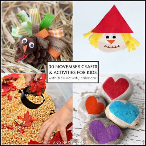 november crafts 30 november activities for free activity calendar