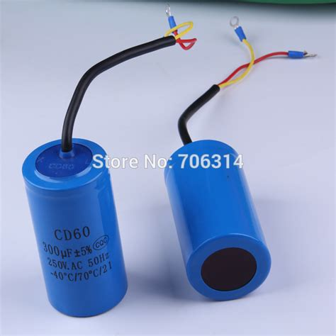 electric motor parts capacitor staring capacitor cd60 300uf heavy duty electric motor starting capacitors in generator parts