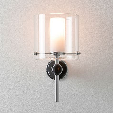 bathroom wall sconces chrome arezzo ip44 bathroom wall light mirror light in polished chrome astro 0342
