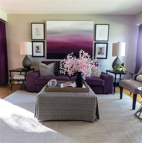 decor your living room with purple hues home decor
