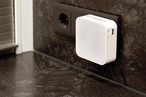 discreet outlet speakers plug radio