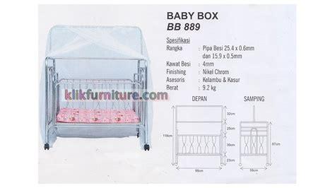 Ranjang Besi Kelambu bb 889 baby box besi ayun sapporo