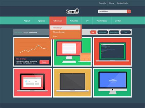 design pattern site du zero tuto cr 201 er un template web flat design avec photoshop cc