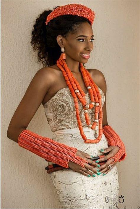 necklaces on traditional nigerian attires igbo bride nigerian brides pinterest wedding brides