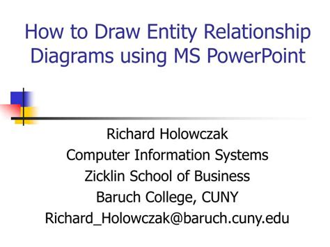 Mba Computer Information Systems by Ppt How To Draw Entity Relationship Diagrams Using Ms