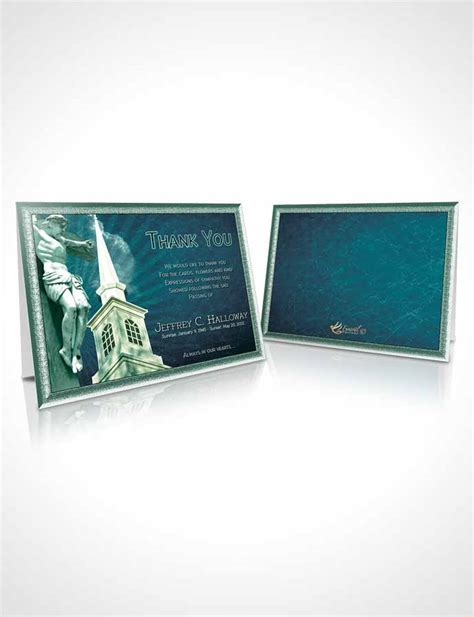 faith cards templates thank you card template cyan christian faith