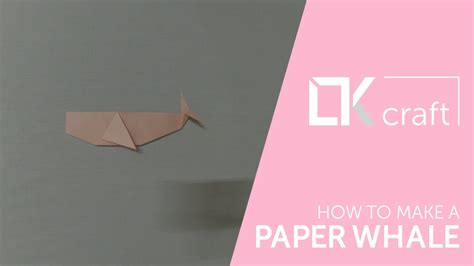 How To Make Paper Whale - how to make a paper whale origami animals 4 my crafts