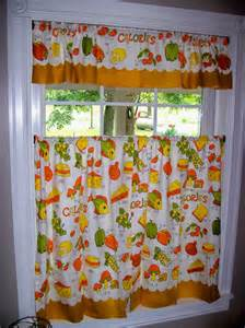 Vintage Kitchen Curtains Vintage Curtains Kitchen Retro Fish By Thesquirrelcottage On Etsy