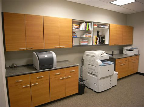 copy room commercial cabinetry closets plus