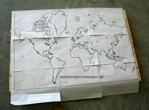 Diy Wood Wall Decor by Diy Wooden World Map The Happier Homemaker