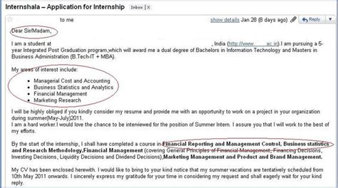 Mba Summer Internship Cover Letter by How Not To Apply For An Internship 3 Internshala