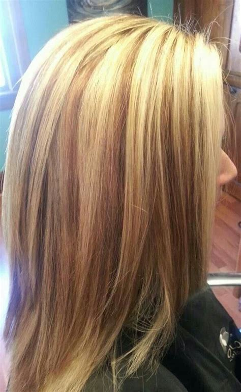 what do lowlights look like in gray hair love this light blonde base with carmel lowlights hair