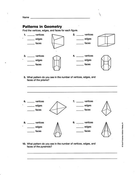 printable math worksheets faces edges and vertices faces vertices edges worksheet worksheets for all