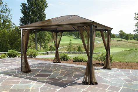 Seasonal Awnings Grand Resort 10x12 Hardtop Gazebo Limited Availability
