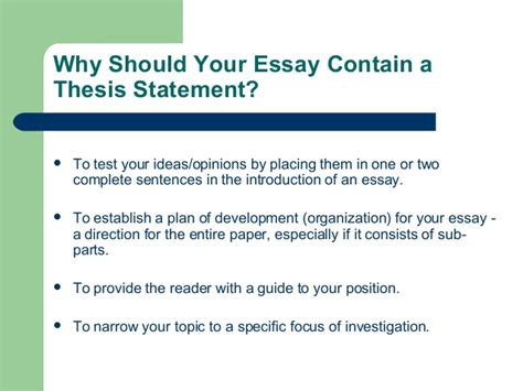 generate thesis statement creating strong thesis statements