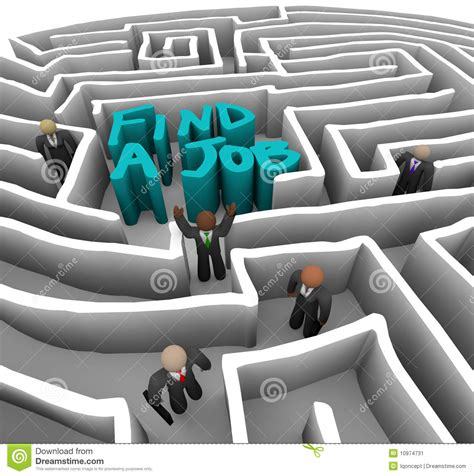 Where To Find Looking For Work Find A Business In Maze Stock Image Image 10974731
