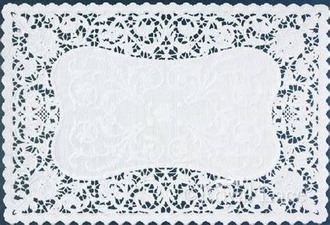 How To Make Lace Paper - bobbin lace white paper placemats royal lace 9 75