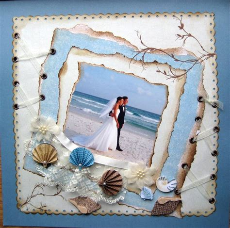 wedding layout pages beach wedding scrapbooking wedding layout falling in