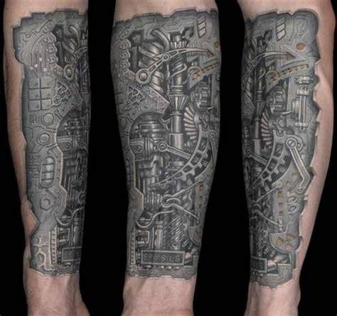 biomechanical tattoo gears steunk mechanical gear tattoo tattoo ideas
