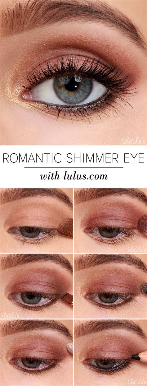 tutorial makeup lulu lulu s how to romantic shimmer eyeshadow tutorial lulus