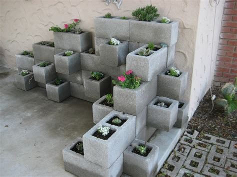 block wall planter