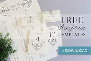 free printable wedding reception templates the budget