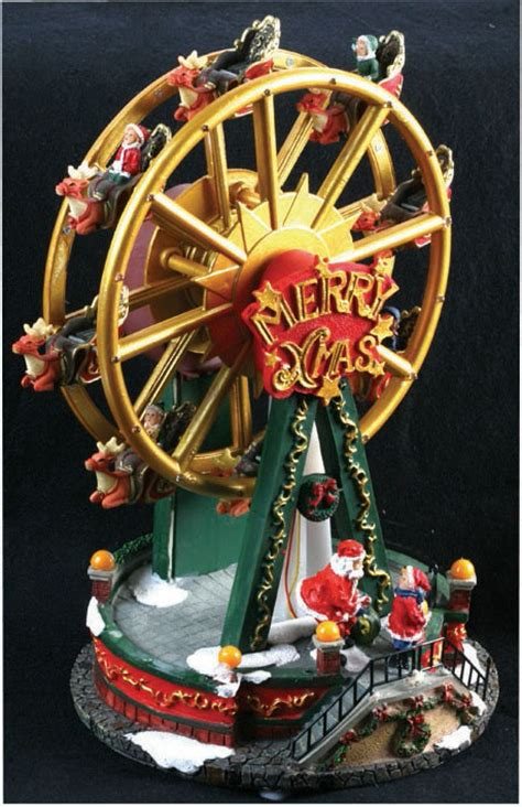 led musical ferris wheel christmas decoration