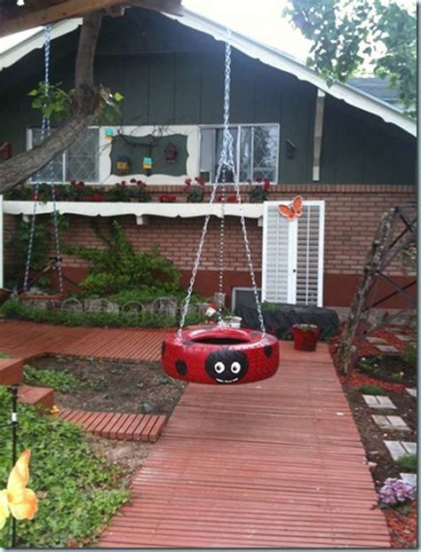 backyard tire swing diy backyard projects 55 ingenious backyard projects to