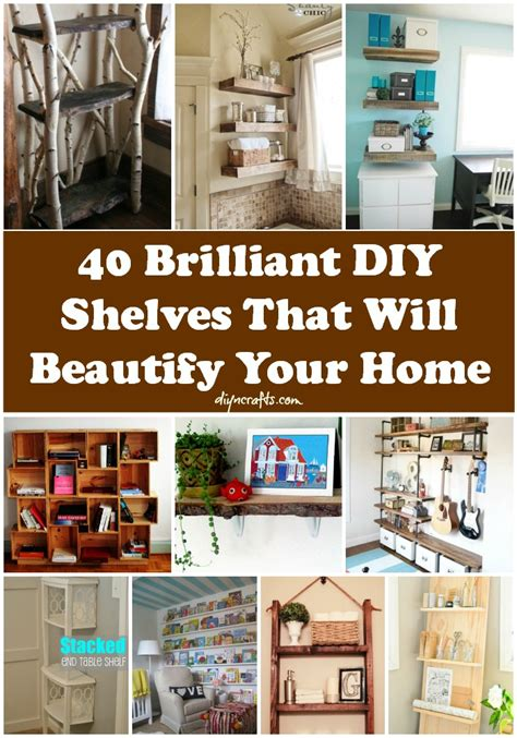crafts for decorating your home 40 brilliant diy shelves that will beautify your home